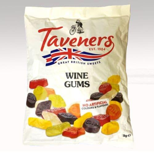 WINE GUMS BY TAVENERS 1KG BAG