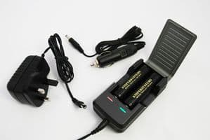 Automatic high quality dual charger for 18650 l-ion batteries