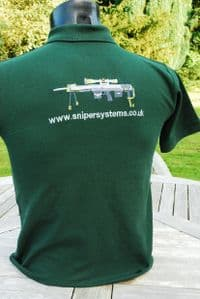 DSR-1 adult green polo shirt