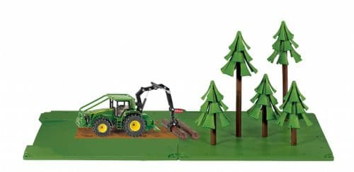 Forestry Set With John Deere Tractor