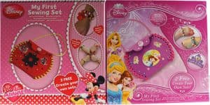 Set Of 2 My First Sewing Craft Kits - Disney Princess & Minnie Mouse