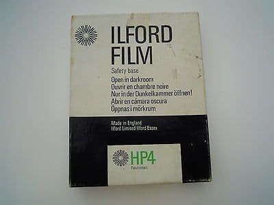Ilford Film HP4 Panchromatic8/1000 inch (0.20mm) base