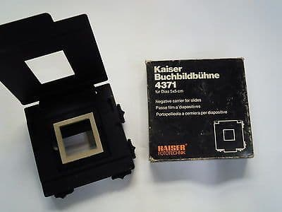 Kaiser Buchbildbuhne 4371 Negative Carrier For Slides 5x5cm