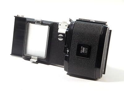 Arca Swiss sliding film back includes 6x9 120 back and ground glass screen USED