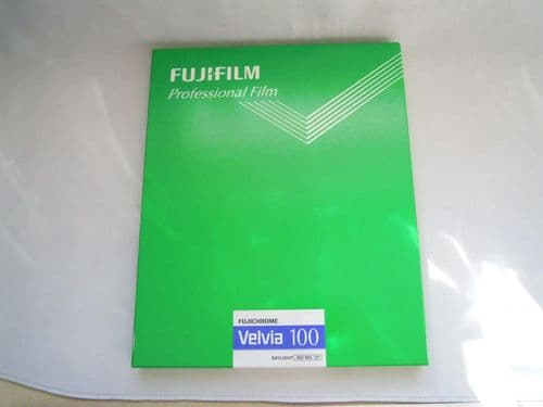 FUJIFILM FUJICHROME VELVIA 100 DAYLIGHT  8X10IN 10 SHEETS