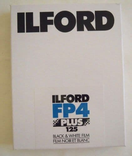 """ILFORD FP4 5X4"""" B&W LARGE FORMAT FILM 25 SHEETS DATED JULY 2019"""