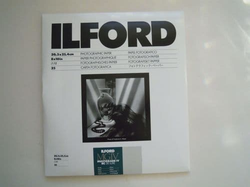 ILFORD MULTIGRADE IV RE DE LUXE PAPER PEARL 8X10IN 25 SHEETS