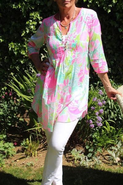 IBIZA TUNIC - Green and Pink WAS £69 NOW