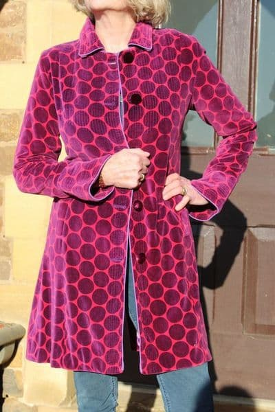 POLKA FUSHIA AND MAROON WAS £195 NOW ONLY XS LEFT
