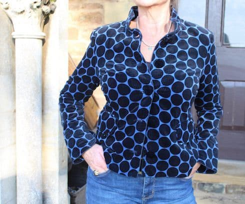 SPOTTY BLUE JAX JACKET WAS £155 NOW ONLY SIZE M LEFT