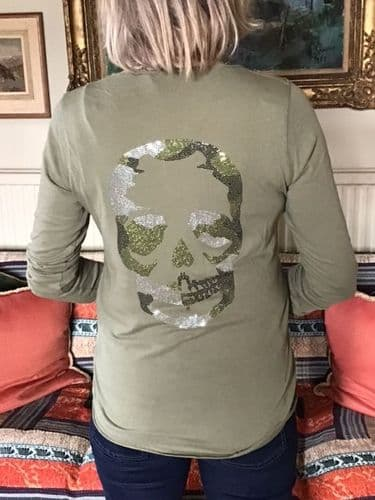 T-SHIRT SKULL GREEN was £55 now