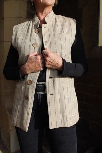 TUSSAR SILK WAISTCOAT WAS £185 NOW ONLY SIZE S LEFT
