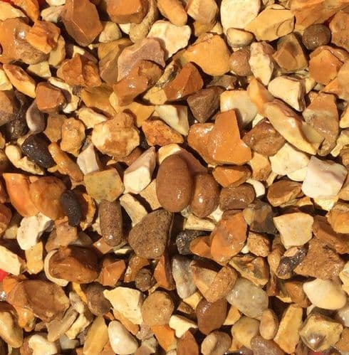Golden Gravel 20mm Bulk Bag - Golden Flint Gravel - Solent Gold Gravel