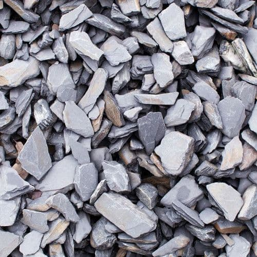 Grey Slate Chippings 40mm Bulk Bag