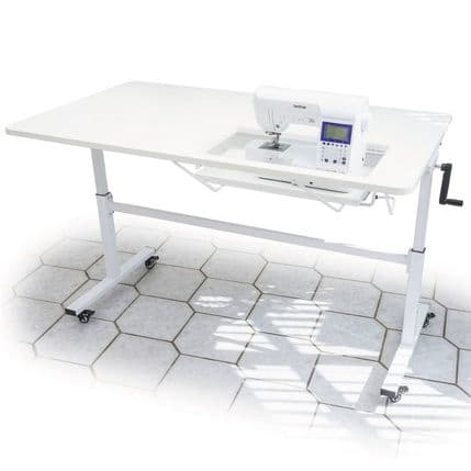 The Sewer's Vision Adjustable Height Table