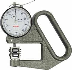 KAFER Dial Thickness Gauge J 50 R - Roller Contact WITHOUT Side Discs - Reading: 0.01 mm