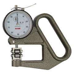KAFER Dial Thickness Gauge J 50 R - Roller Contact WITH Side Discs - Reading: 0.01 mm