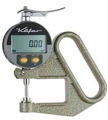 KAFER Digital Thickness Gauge JD 100 with Lifting Device - Reading: 0.01 mm