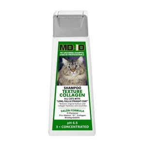 MD10 CAT Texture Collagen Shampoo 300ml (1.2 Litre diluted) Main Coon,  Long Full Coat Cats