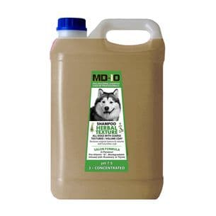 MD10 Herbal Texture Shampoo 2 Litre (8 Litre diluted) Malamute Samoyed Chow Chow Pomeranian Bearded Collie Terrier Coarse Coat Schnauzer