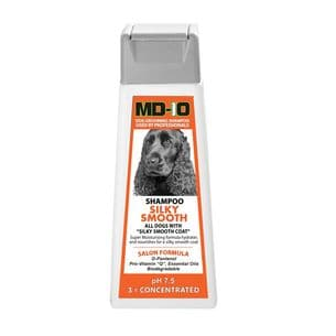MD10 Silky Smooth Shampoo 300ml (1.2 Litre Diluted) Shih Tzu, Irish Setter, Cavalier, King Charles, Chihuahua, Boxer