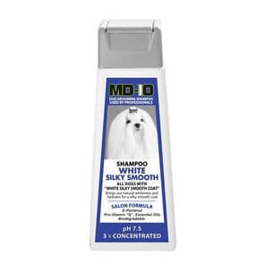 MD10 White Silky Smooth Shampoo 300ml (1.2 Litre Diluted) Shih Tzu, Papillon, Maltese, Japanese Chin, Cavalier, King Charles, English Setter