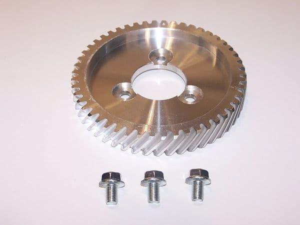 Cam shaft gear wheel, bolt on helical style, VW air cooled Type 1 case