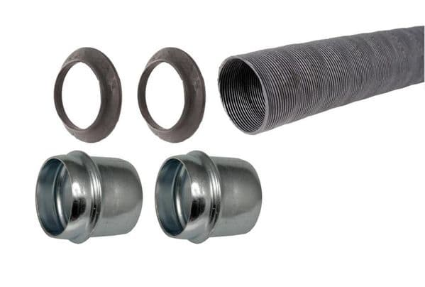 Air pipe Kit, 1 x 50mm black air pipe, 2 x stubs, 2 x seals VW Beetle and Type 2