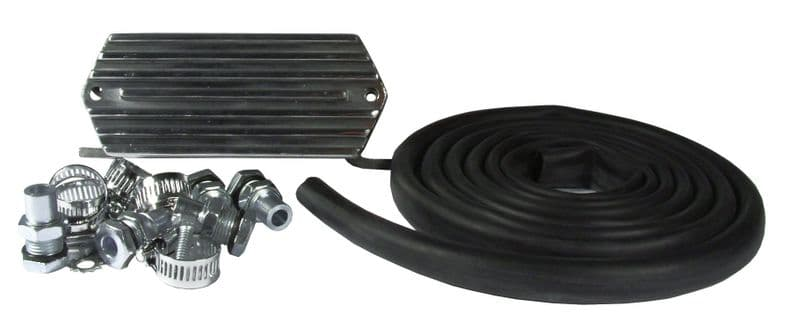 Breather box kit Polished, VW Beetle and Type 2, and many other applications