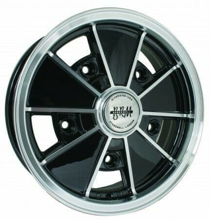 BRM Alloy Wheel Gloss Black 5Jx15'' with 5x205 Stud Pattern VW 1950-1967