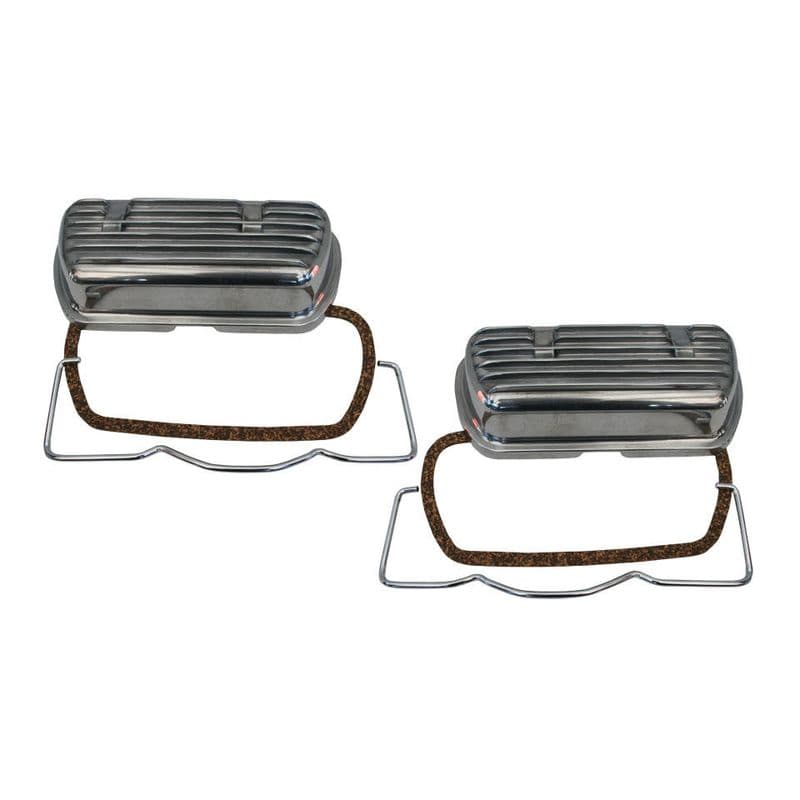 Clip on alloy rocker covers for VW Type 1 air cooled engine up to 1600cc