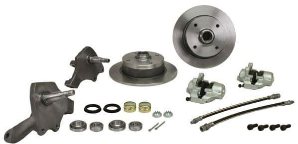 Disc Brake Conversion Kit with Dropped Spindles 4x130 Stud Pattern VW Beetle 68-