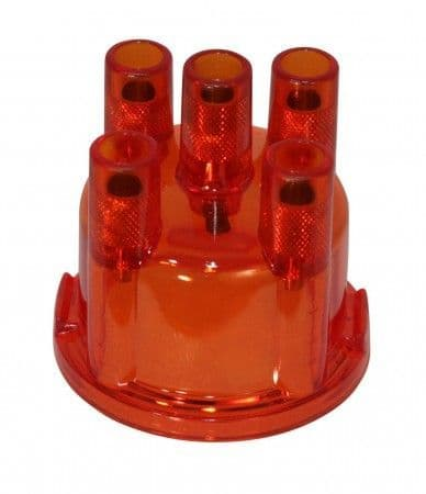 Distributor Cap in transparent red for VW Bosch Distributor 1968 to 1979