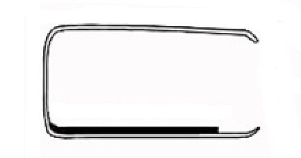 Door window chrome surround with seal, T1 65-79 Right hand side