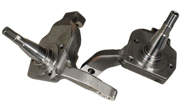 Dropped spindle stub axles, drum brake type for Type 1 1966 to 1979