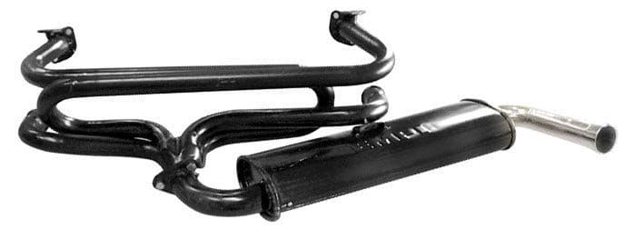 EMPI Single Quiet Pack Exhaust System VW Beetle and Type 2 without bumper