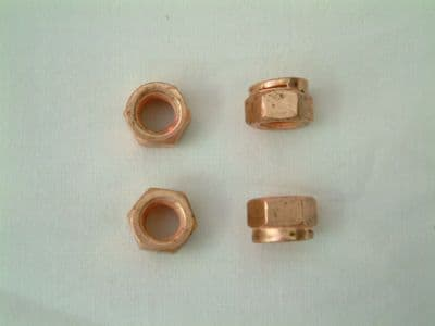 Exhaust fitting nuts set of 4, self locking style M8 size