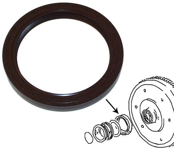Flywheel rear main oil seal, VW Type 2 1700, 1800, 2000cc and T25 petrol engines