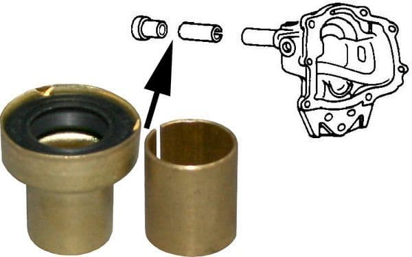 Gear box nose cone bushing and seal kit, T1 68-78, T2 68-75
