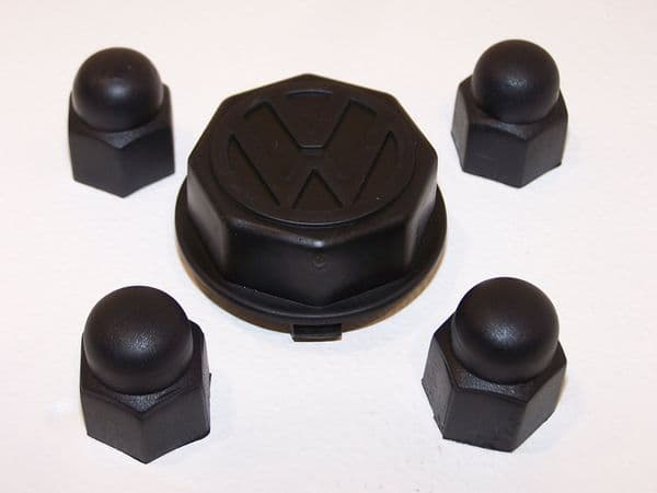 GT wheel bolt covers and centre cap, for VW Beetle