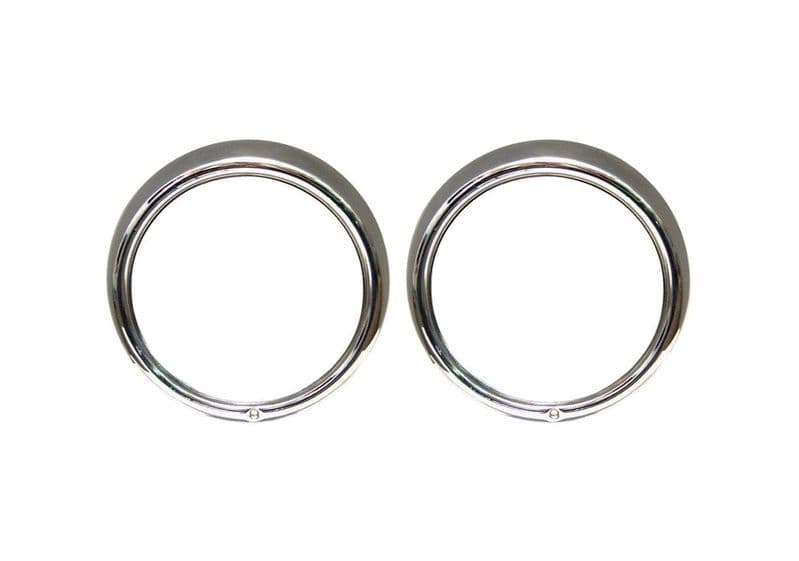 Head light rim single screw best quality sold as a Pair VW Beetle or Type 2 74-79