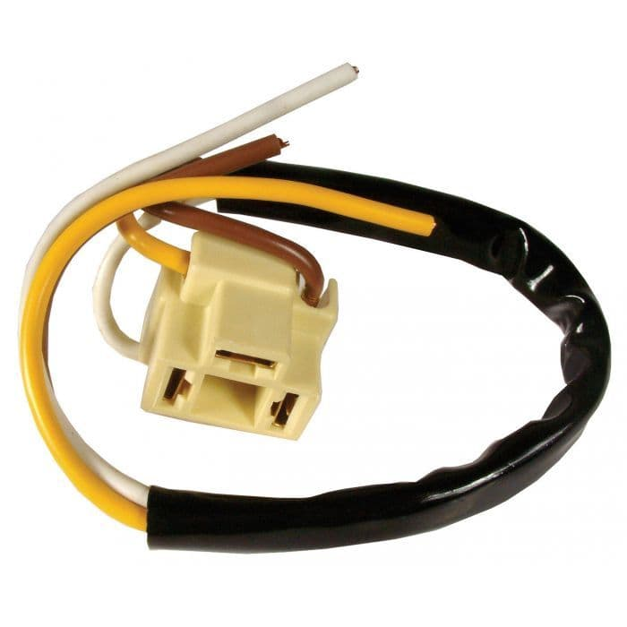Headlight connector with wiring loom