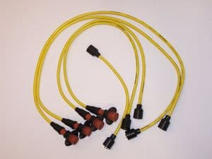 HT lead set 7 mm copper core, Yellow in colour VW Air cooled engine up to 1600cc