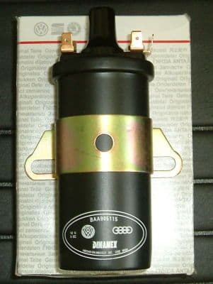 Ignition coil 12 volt VW Beetle, Type 2 Air cooled Genuine VW part