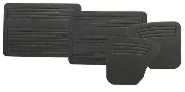 Interior door card panels without pockets VW Type 1 Beetle 1968 to 1979