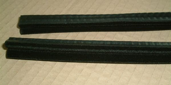 Large felt guides, door window, Pair