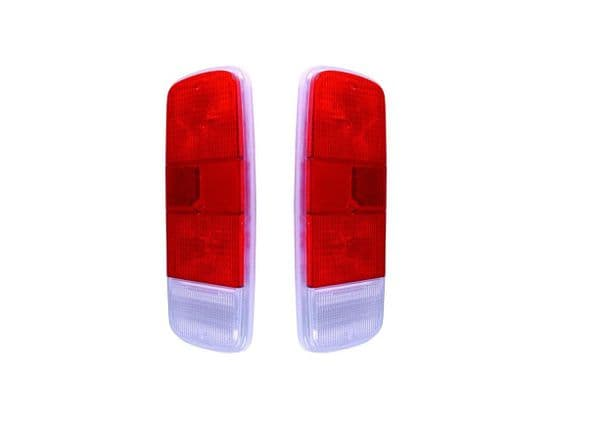 Light lens rear Red, Red and Clear sold as a pair for VW Type 2 van 1972 to 1979