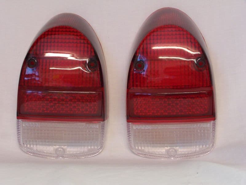 Light lens Rear T1 68-74 tomb stone style Red & clear sold as a pair