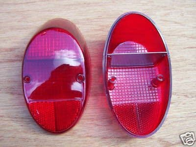 Light lenses rear VW Beetle 1961 to 1967 & 1200cc up to 1973, all Red, US style