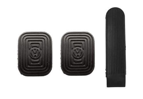 Pedal rubber set of 3, Brake, Clutch and Accelerator for VW Beetle 1958 to 1979